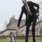 World's tallest and shortest man meet